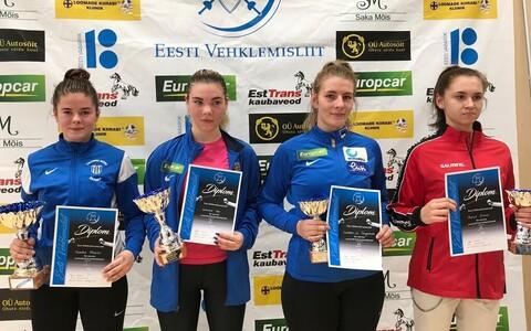 Eesti juunioride karikavõistluse võits naiste seas Sandra Skoblov