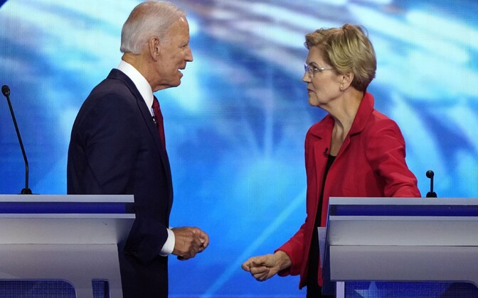 Joe Biden ja Elizabeth Warren.