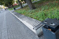 Damaged benches in Tammsaare Park.