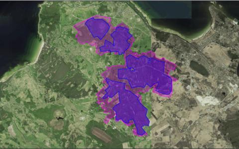 Карта планируемой охраняемой природной территории в Сырве.
