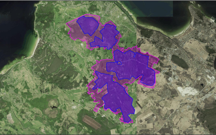 Planeeritava Sõrve looduskaitseala kaart