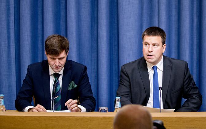 Finance Minister Martin Helme and Prime Minister Jüri Ratas.