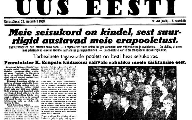 Uus Eesti 25.09.1939
