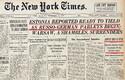 New York Times´i esiuudis 28. septembril 1939 tuli Eestist.