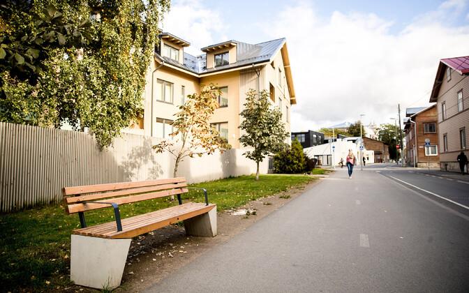 Apartment buildings in Tallinn's Kalamaja neighborhood.