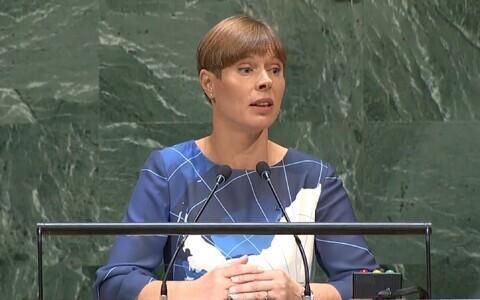 President Kersti Kaljulaid New Yorgis ÜRO peaassambleel.