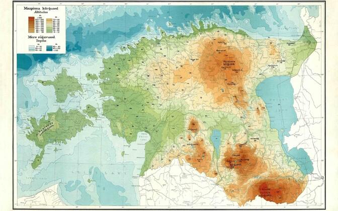 Map of Estonia.