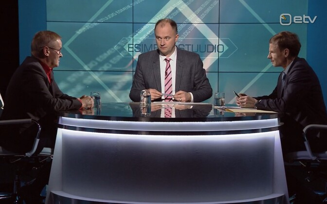 Jaak Aab (left) and Aivar Sõerd on Thursday's Esimene stuudio with ERR's Andres Kuusk in the chair.
