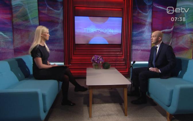 Лийзу Ласс и Тынис Мёльдер в утренней передаче Terevisioon.