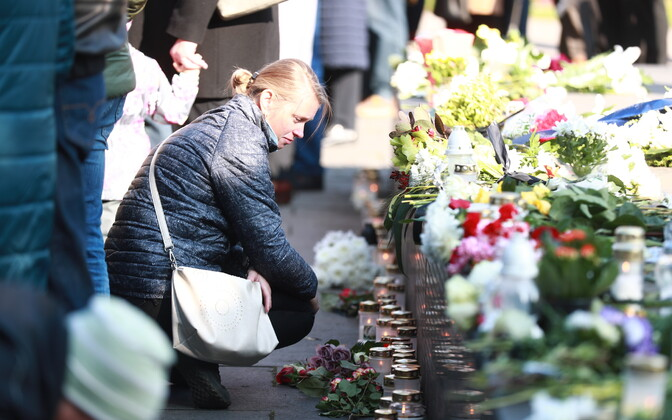 Families of the victims gathered to mark the 25th anniversary of the MS Estonia ferry disaster.