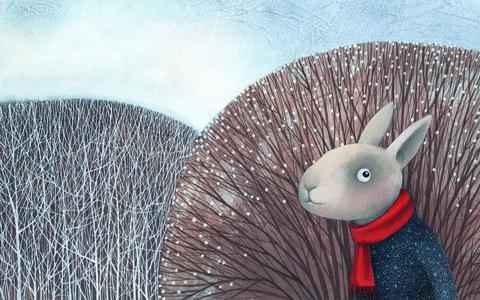 """Catherine Zaripi illustratsioon Ilmar Tomuski raamatust """"Hundi sõbrad"""" (2018)."""