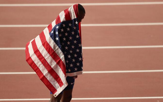 100 m jooksu võitja Christian Coleman