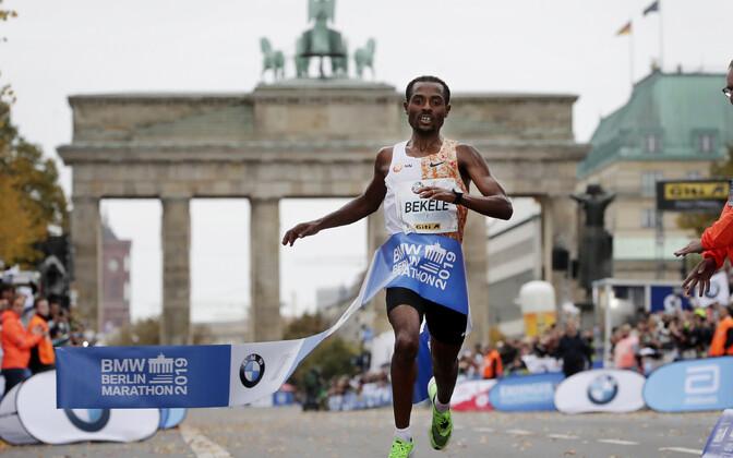 Kenenisa Bekele Berliini maratonil