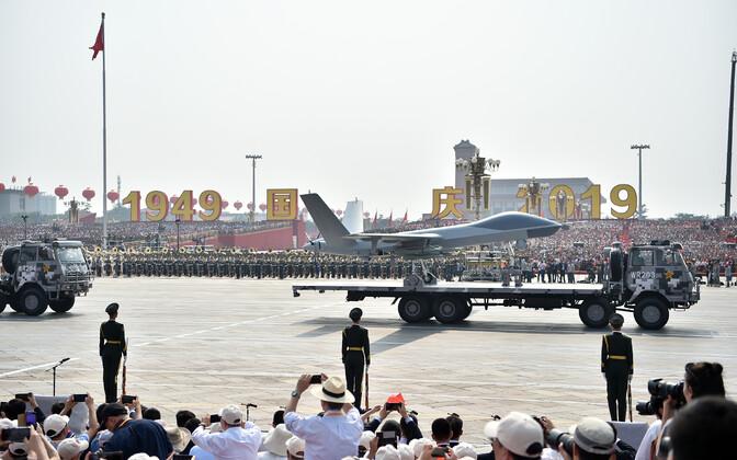Военный парад в Пекине 1 октября 2019 года.