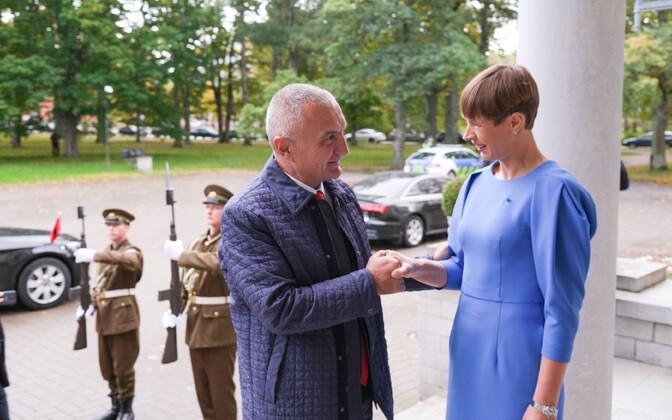 President Kersti Kaljulaid kohtus Kadriorus Albaania riigipea Ilir Metaga