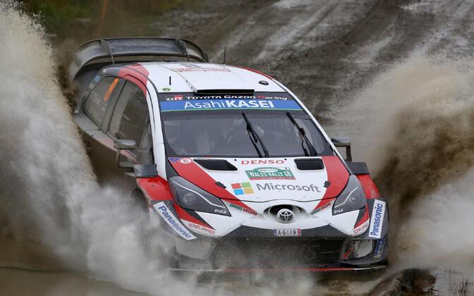 Ott Tänak in last year's Rally Wales.