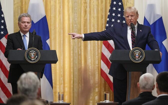 Sauli Niinistö ja Donald Trump.