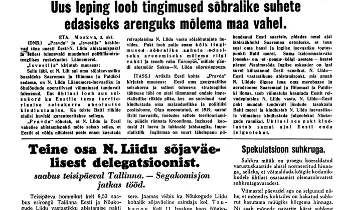 Uus Eesti 4.10.1939.