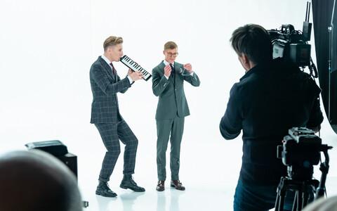ВЕдущие конкурса Eesti Laul 2020 Карл-Эрик Таукар и Тынис Нийнеметс.