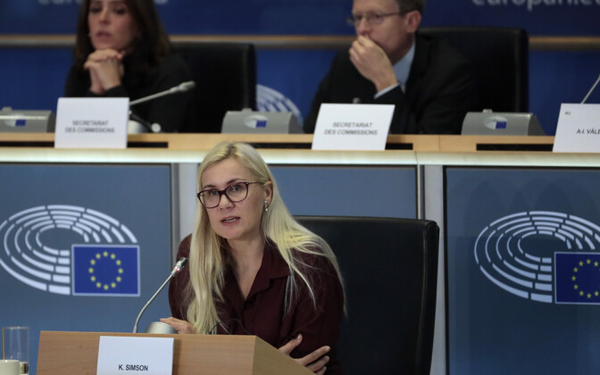 Kadri Simson during her European Parliament hearing.