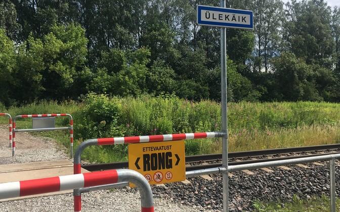 Raudteeülekäik.