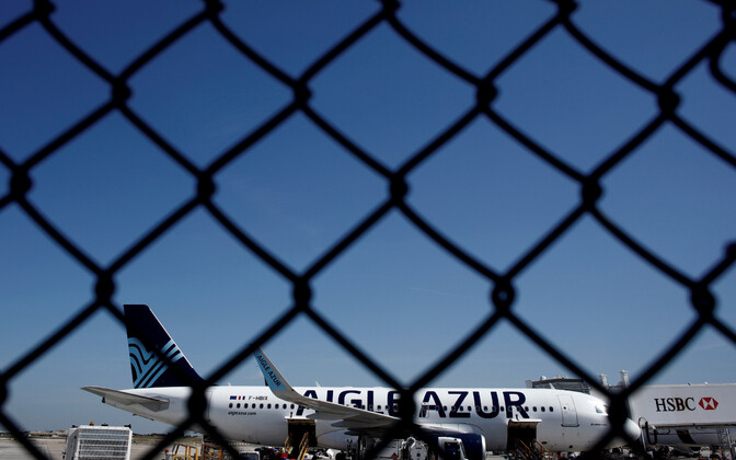 Airbusi lennuk Orly lennujaamas Prantsusmaal.