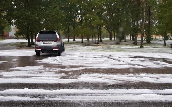 Первый снег на Сааремаа.