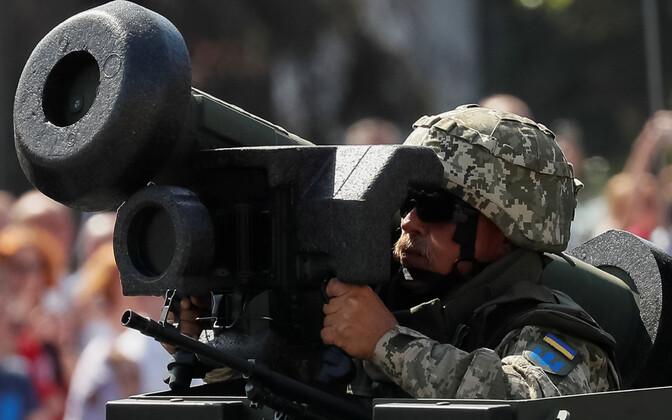 Javelini tankitõrjerakett Kiievis sõjaväeparaadil.