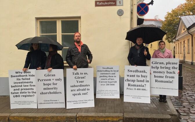 Artur Talvik Toompeal protestimas