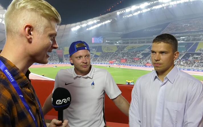 Eesti kergejõustikufännid Doha MM-il