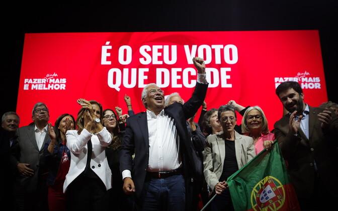 Portugali peaminister Antonio Costa kampaaniaüritusel Lissabonis.