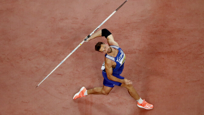 Magnus Kirt wins Javelin Silver, though is stretchered off