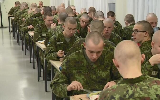 Conscripts in the Kuperjanovi battalion.