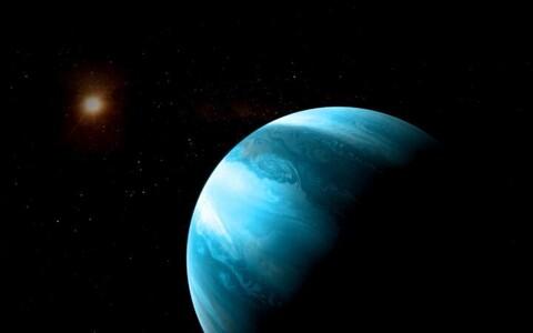 Hiidplaneet GJ 3512b kunstniku nägemuses.