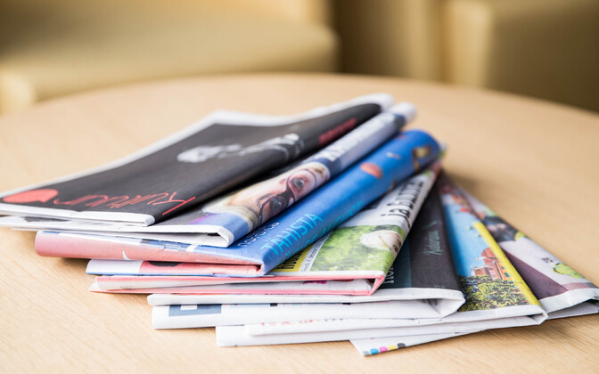 Estonian newspapers (photo is illustrative).