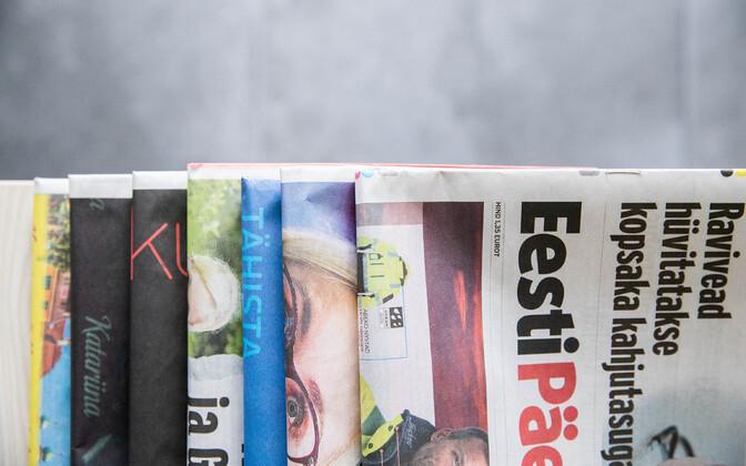 Estonian Newspapers (photo is illustrative).