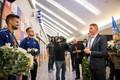Встреча Магнуса Кирта в Таллиннском аэропорту.