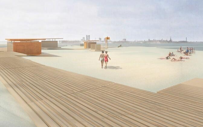 Проект обустройства пляжной зоны в Пирита.