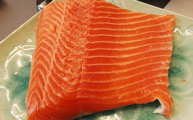 Salted salmon. Illustrative photograph.