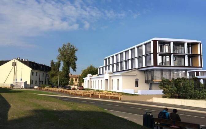 Suur-Patarei 24 kinnistu tulevikuvaated eel-eskiisiprojekti seletuskirjas.