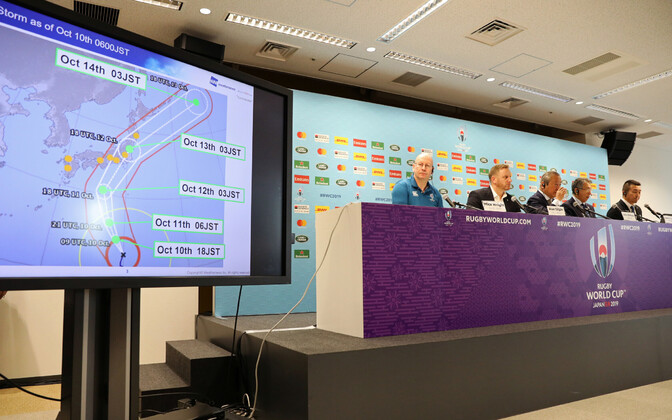 Saabuva taifuuni tõttu otsustasid ragbi MM-i korraldajad jätta ära kaks kohtumist