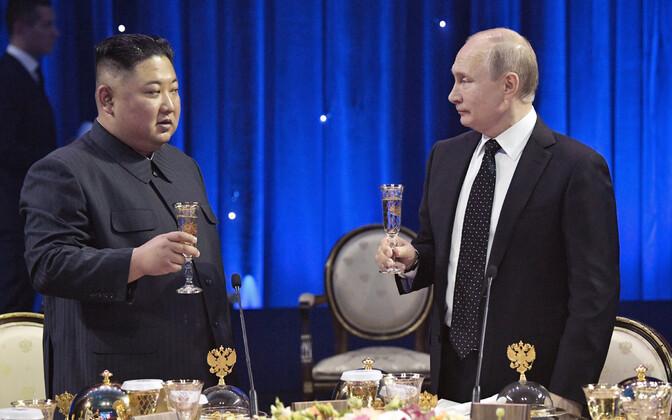 Kim Jong-un ja Vladimir Putin 2019. aasta aprillis Vladivostokis.