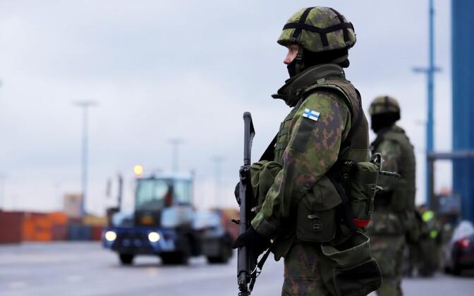 Soome sõdurid.