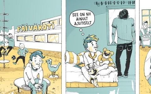 """Martin Rattase koomiksinäitus """"See oli siis, kui Soome läksime""""."""