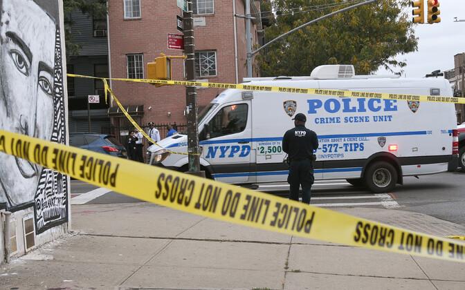 New Yorgi politsei kuriteopaigas.