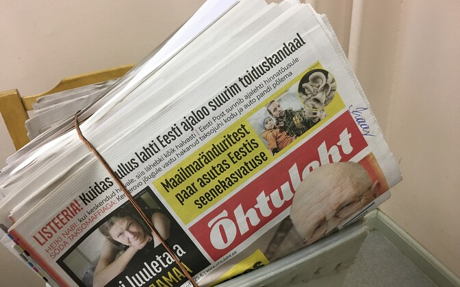 Estonian newspapers for delivery (picture is illustrative).