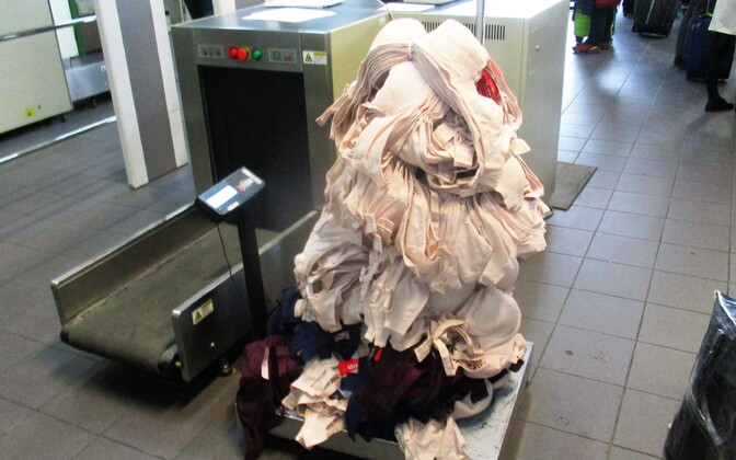 A woman tried to smuggle 24kg of bras into Russia.