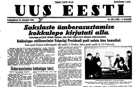 Uus Eesti 16.10.1939.
