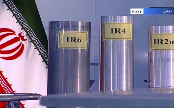 Pilt Natanzi tuumajaama uraani rikastamise tsentrifuugidest Iraani riigitelevisioonis.