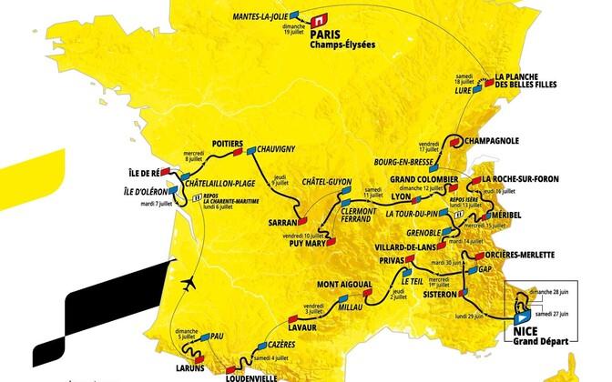 2020. aasta Prantsusmaa velotuuri rada.